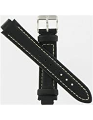 Swiss Army Brand 12/19mm Peak II Small Black Leather Strap