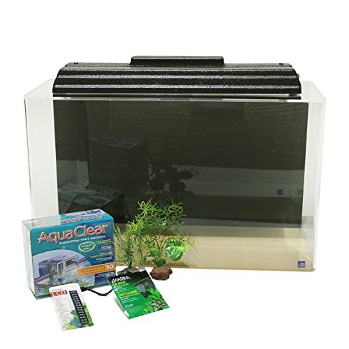 SeaClear 29 Gallon Show Acrylic Aquarium Junior Executive Kit Black; 30