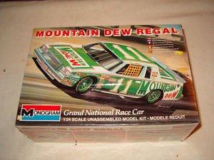 (#2204 Monogram Darrell Waltrip #11 Mountain Dew Buick Regal 1/24 Scale Plastic Model Kit,Needs Assembly)