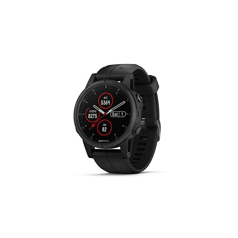 Garmin fēnix 5S Plus Compact Multisport Watch with Music, maps, and Garmin Pay