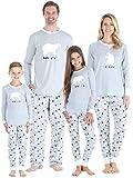 Sleepyheads Holiday Family Matching Polar Bear Pajama PJ Sets - Kids - Grey Top (SHM-4038-K-4T)