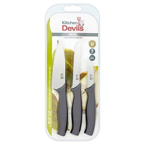 Kitchen Devils S8603017 Control Starter Set, Stainless Steel, Black, 3 PCE