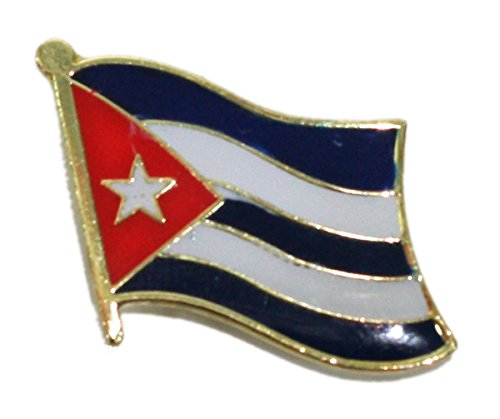 Ted and Jack - Show Your Pride in Your Nation Metal and Ceramic Lapel Pin - Cuba
