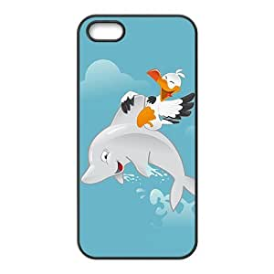 Fresh dolphin and bird Cell Phone Case for iPhone 5S