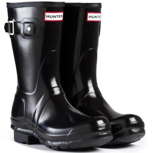 Galleon - Women s Hunter Boots Original Short Gloss Snow Rain Boots Water  Boots Unisex - Black - 7 9c0e5d7241d