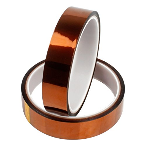 2 Rolls 20mm X100ft Heat Resistant Tape - PAMISO Heat Press Tape Sublimation Tape - for Heat Transfer Vinyl,3D Printers High Temperature Tape