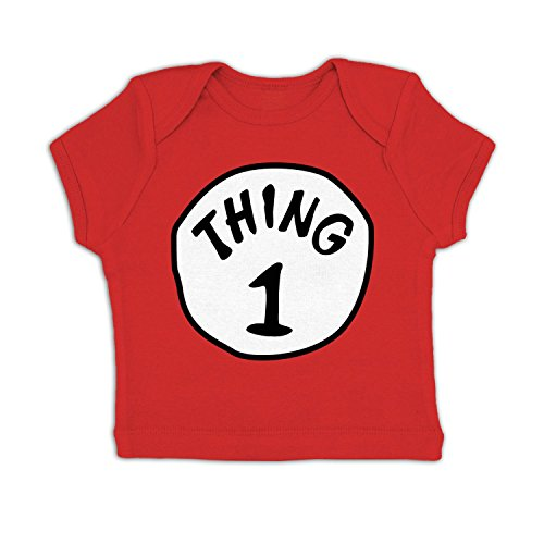 Thing 1 Costume Baby T-shirt - Red 3-6 Months (Boy Girl Twin Halloween Costumes)