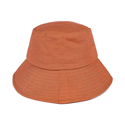 (capswhh Sun Hat - Male Fisherman Hat Visor Outdoor Sports Sun Hat Tide@Caramel Colour_Adjustable)