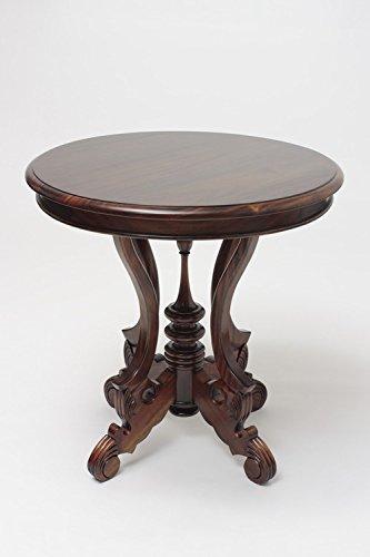 Laurel Crown Victorian Round End Table -