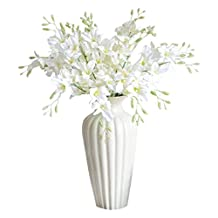 simulation Phalaenopsis Orchid - SODIAL(R)5pcs High Quality Artificial Phalaenopsis Orchid Flowers Silk Flower Wedding Decoration For Home Dining Table Artificial Flower (white)