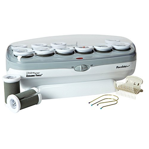 Hot Rollers Hair Jumbo - Conair Pro Porcelian Series Ceramic Hair Curler, 12 Rollers