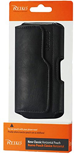 Reiko Premium Pouch Case Holster Belt Clip And Loops For iPhone 5 5S 5C WITH OTTER BOX Defender / LIFEPROOF / Mophie Juice Pack Air/Plus Case On,Black-Not For Bare iPHone 5 5S 5C