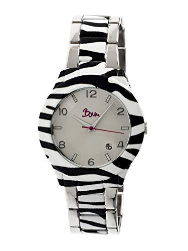 Boum Bombe Quartz Multicolor Gold Stainless Steel Bracelet Women's Watch with Date (Women Watches Boum)