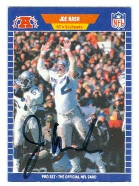 Autograph 212475 Seattle Seahawks 1989 Pro Set No. 399 Joe Nash Autographed Football Card from Autograph