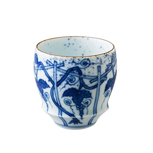japanese ceramic Arita Ware SAKE CUP Grape Vines