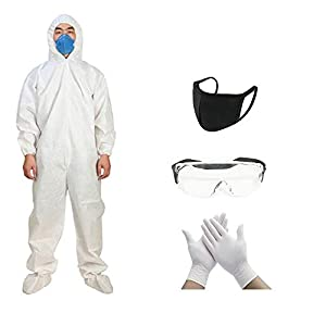 NJ Washable PPE Safety Kit, Reusable PPE Kit, Factory Safety Clothing, Suitable for daily use: 5 Items
