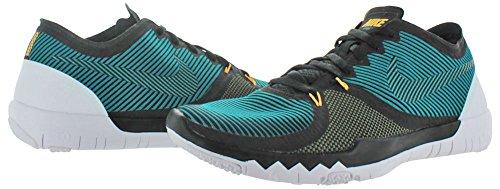 Nike Free Trainer 3.0 V4 Herren Hallenschuhe BLACK/RADIANT EMERALD-MDM OLIVE-WHITE