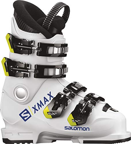 (Salomon X Max 60T Ski Boots Kid's Sz 1 (21) White/Race Blue/Acid)