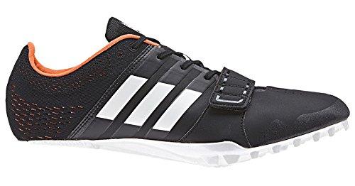 Adidas Running Mens Adizero Accélérateur Core Noir / Chaussures Blanc / Orange