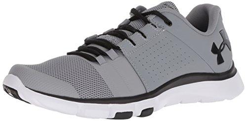 Under Armour Men's Strive 7 NM Sneaker, Steel (102)/Black, 7.5