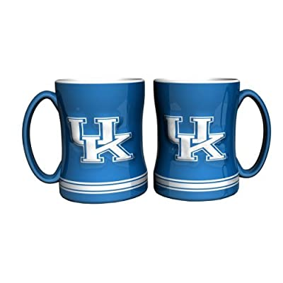 NCAA Kentucky - Relief Coffee Mug (2) | UK Wildcats 14 oz. Ceramic Coffee Cup - Set of 2