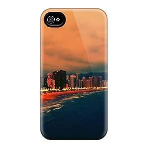 Case Cover For SamSung Galaxy Note 3 Hybrid PC Silicon Bumper Evening On Benidorm Beach Spain