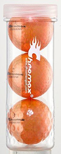 Chromax M1X Golf Balls (Pack of 3), Orange