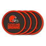 NFL Cleveland Browns Vinyl Coaster Set (Pack of 4)
