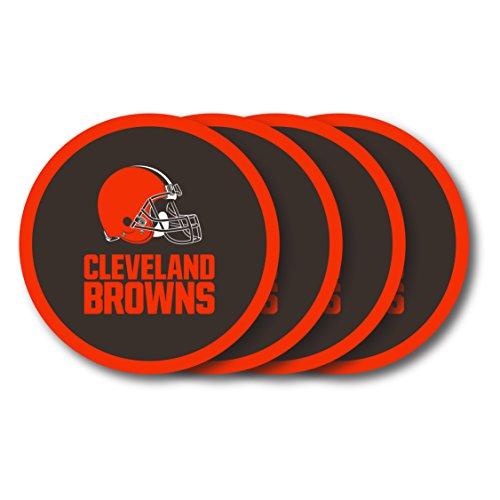 NFL Cleveland Browns Vinyl Coaster Set (Pack of 4)