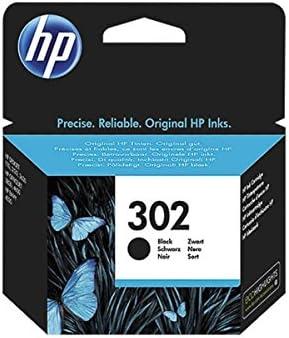 HP 302, F6U66AE - Cartucho de tinta original para HP Envy 4520Capacidad (aprox): 190 páginas / 5 % de cobertura; Color: negro., color (01) 1x cartuccia: Amazon.es: Electrónica