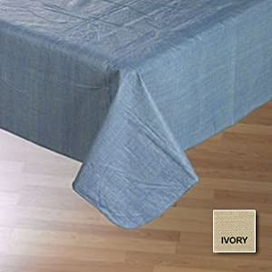 Cafe Deauville Ivory 52x52 Vinyl Tablecloth