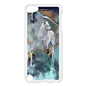 WJHSSB Customized Print Wolf Howling Pattern Hard Case for iPod Touch 5