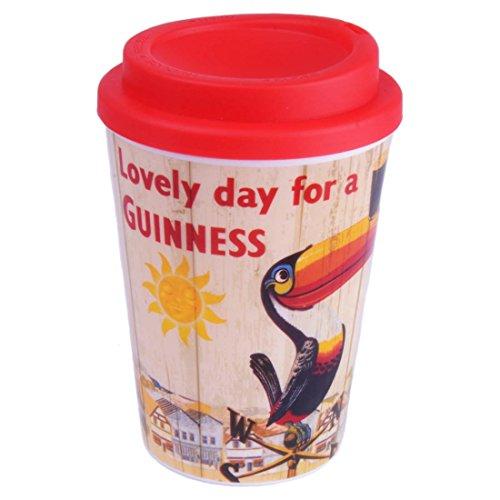 Nostalgic Guinness Travel Mug With Toucan On Weathervane Design