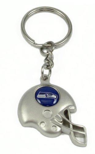 Seattle Seahawks - NFL Silver Helmet Keychain