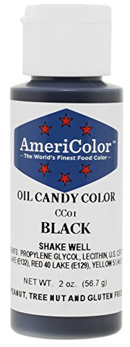 Americolor Candy Oil Food Color, 2-Ounce, Black]()