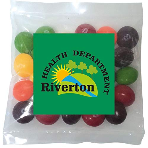 Candy Gift Pack-Skittles with CUSTOMIZED in Personalized Mini Label Pack-BULK Quantities of 250, 500, 1000, 2500 per…