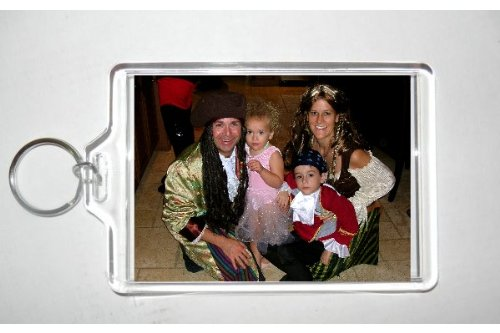 Acrylic Photo Snap-in Jumbo Size Key Chain - 2.5x3.5'' (pack of 25)