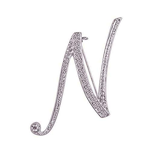 Nadition Letters With Diamond Brooch Ladies Fashion Temperament Accessories Wedding Prom Styling