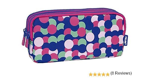 MILAN Portatodo 3 Cremalleras Dotty Estuches, 22 cm, Rosa: Amazon.es: Equipaje