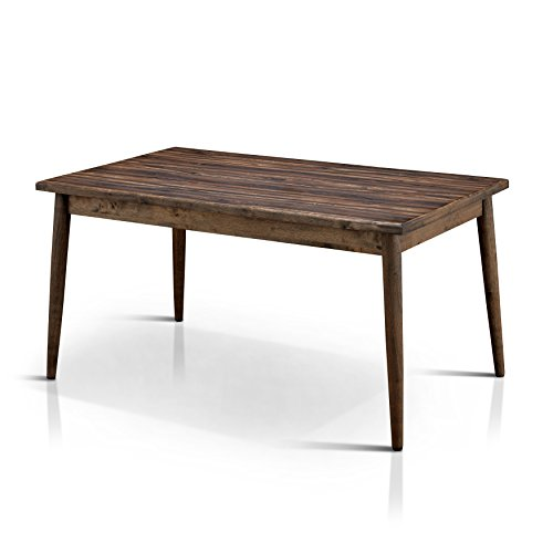 HOMES: Inside + Out IDF-3371T Velasco Dining Table Natural Tone Valesco Modern