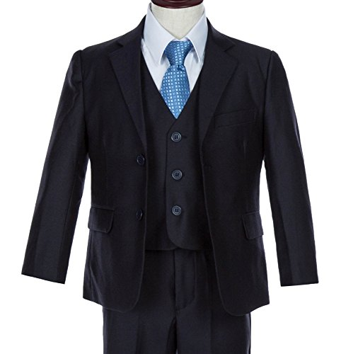 3 Button Patterned Wool Suit - 1