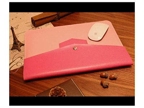 Yunqir Multi-functional Unisex PU Leather Tablet Laptop Bag Handbag Computer Inner Bag Envelope Bag
