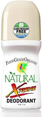 Xtreme Organic & 100% Natural Healing Deodorant for Men & Women Carcinogen-Free Aluminum-Free Gluten Free Detox Deodorants Unisex Healthy Paleo Vegan Rollon