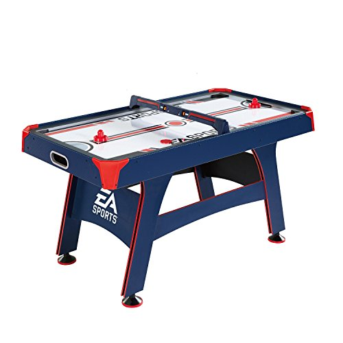 (EA Sports 60 Inch Air Powered Hockey Table with Overhead Electronic Scorer)