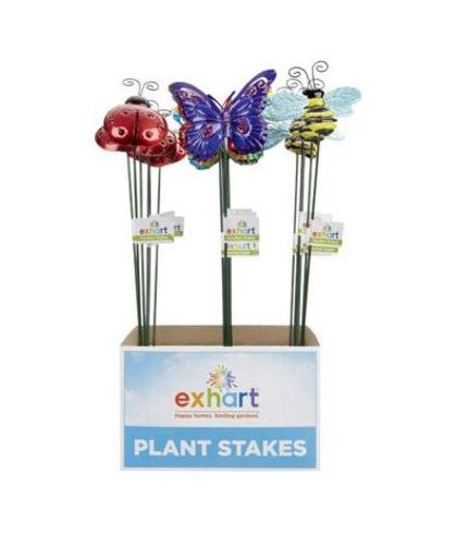 Exhart 50746 Windy Wings Small Metal Garden Stake Assortment