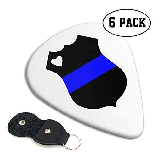 Irene Merritt Guitar Picks- Police Badge Thin Blue