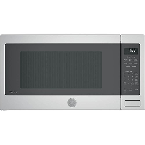 GE Profile 2.2 cu. ft. Capacity Countertop Sensor Microwave 1100 Watts Stainless Steel PES7227SLSS Ge Profile Stainless Steel Appliances