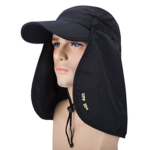 Mask Hat Removable Outdoor Fishing OTI388 Hunting 360 Legion Black Anti 50 GADIEMKENSD Folding UPF Hat UV Hat Protection mosquito Adjustable Hat Sun CES z8OfqInO