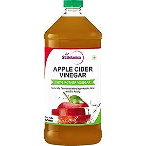 St.Botanica Natural Apple Cider Vinegar with Mother Vinegar – 500 ml – Raw, Unfiltered, UnRefined