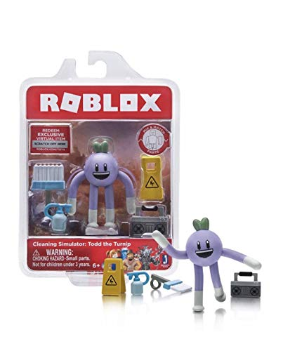 Roblox Cleaning Simulator: Todd the Turnip Single Figure Core Pack with Exclusive Virtual Item Code